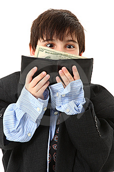Adorable Boy In Over Sized Suit Stock Image - Image: 14911651