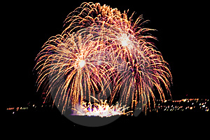 Firework Streaks In Night Sky, Celebration Stock Photography - Image: 14911652