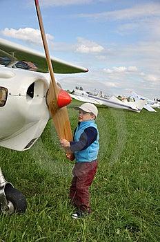 Lotników Potomstwa Obraz Stock - Obraz: 14912101