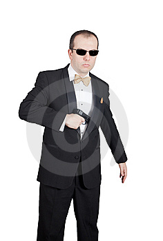 Secret Agent Draw Stock Images - Image: 14913834