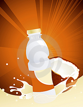 Coconut Juice Bottle Stock Photos - Image: 14915653