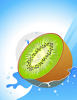 Kiwi Splash Stock Photography - Image: 14915682