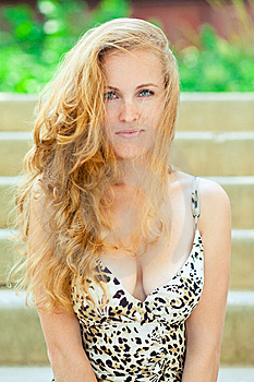 Woman  Fashion Portrait In Outdoors Royalty Free Stock Photo - Image: 14917705