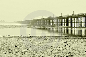 Coastline Of Northern Sea And Bridge Stock Photos - Image: 14918173