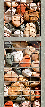 Caged Colorful Stones Royalty Free Stock Photo - Image: 14918365