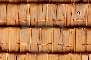 Sago Leaf Woven Roof Royalty Free Stock Images - Image: 14918739