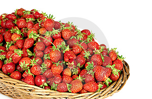 Strawberries In Basket Royalty Free Stock Image - Image: 14919186