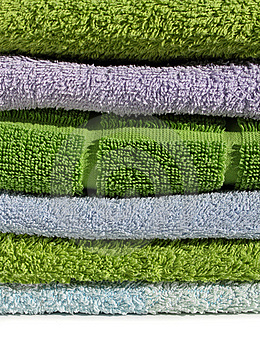 Terry Cloth Towels Pile Royalty Free Stock Photo - Image: 14920335
