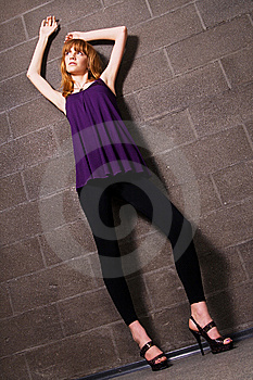 Fashionable Red-haired Woman Stock Images - Image: 14921554