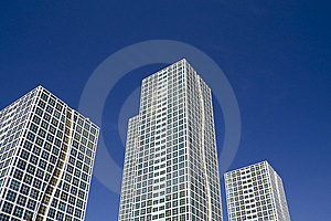 White Glass Modern Business Center Royalty Free Stock Images - Image: 14922549