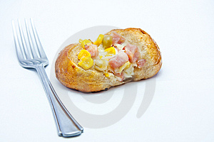 Bread With Bacon And Corn Stock Photo - Image: 14923220