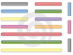 Glossy Web Buttons Royalty Free Stock Images - Image: 14923229