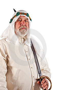 Arab Man With A Sword Royalty Free Stock Photo - Image: 14923555