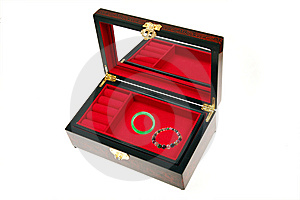 Open Chinese Jewelry Box Royalty Free Stock Photos - Image: 14923878