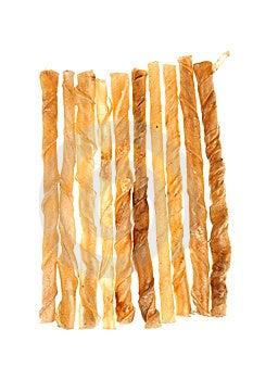 Dog Bone On Isolated White Royalty Free Stock Photos - Image: 14923928