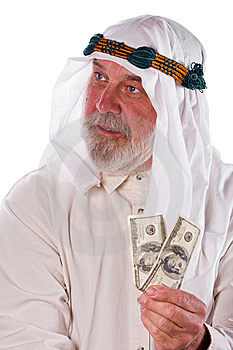 Arab Man Holding Money Stock Image - Image: 14924021