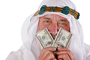 Arab Male Holding Money To His Face Stock Photo - Image: 14924070