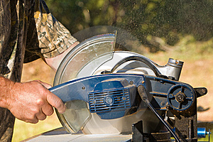 Chopsaw In Action Royalty Free Stock Image - Image: 14924126