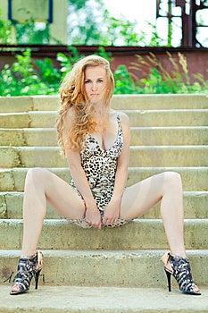 Fashion Model Portrait Outdoors Stock Photos - Image: 14925023