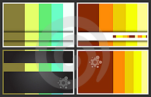 Business Cards Set Royalty Free Stock Image - Image: 14925036