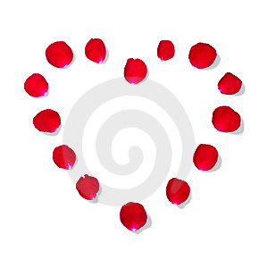 Heart Shape By Rose Petal Stock Photography - Image: 14927962