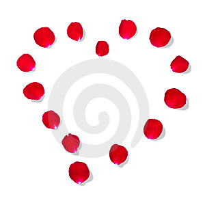 Heart Shape By Rose Petal Stock Images - Image: 14927964