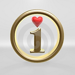 I Love Red Heart Royalty Free Stock Photography - Image: 14928247