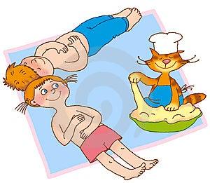 Child's Gymnastics Stock Photos - Image: 14928593