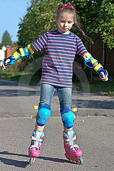Girl On Roller Blades Royalty Free Stock Photo - Image: 14929855