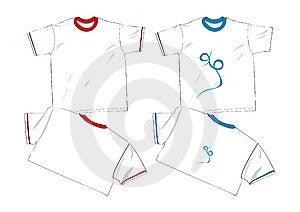 Fashion T Shirt Template Royalty Free Stock Image - Image: 14930746