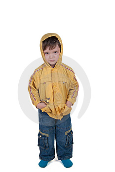 Child In Jacket Royalty Free Stock Photography - Image: 14931077