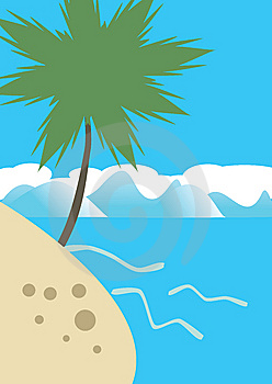 Palm On The Tropical Beach Royalty Free Stock Image - Image: 14931206