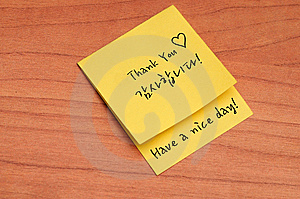 Thank You Note Royalty Free Stock Image - Image: 14931896