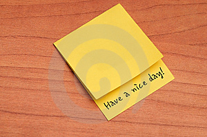 Thank You Note Stock Image - Image: 14931901