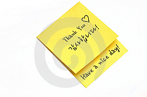 Thank You Note Stock Image - Image: 14931911