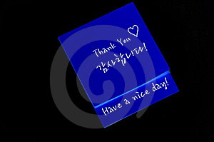 Thank You Note Stock Photos - Image: 14931953