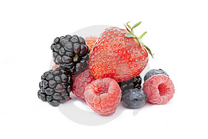 Summer Fruits On White Royalty Free Stock Images - Image: 14932959