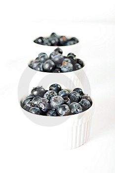 Three Servings Of Blueberries Stock Photography - Image: 14935122