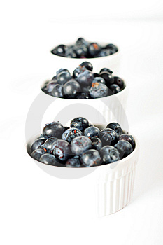 Fresh Organic Blueberries In Ramekins Royalty Free Stock Photo - Image: 14935125