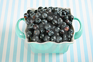 Bowl Of Blueberries On Lines Stock Photography - Image: 14935182