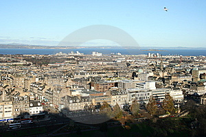 Beautiful View From Edinburgh Castle Parapet Stock Photos - Image: 14936033