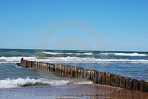 Breakwater At Sea Stock Photo - Image: 14936340