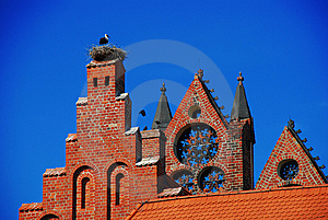 Stork Nest, Gothic Architecture, Germany Stock Images - Image: 14937054