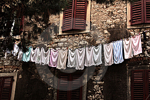Towels On A Linen. Stock Photo - Image: 14937520