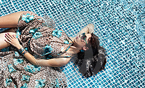 Young Woman At A Pool Stock Photo - Image: 14939700