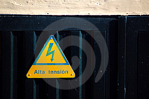 Warning Sign High Voltage Stock Photos - Image: 14939873