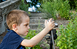 Little Boy Photographer Royalty Free Stock Photos - Image: 14940038