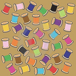 Background With Reels Of Thread Stock Photo - Image: 14940650