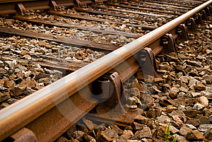 Old Train Track Stock Image - Image: 14940801