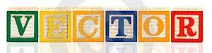 Alphabet Blocks Vector Stock Photography - Image: 14943932